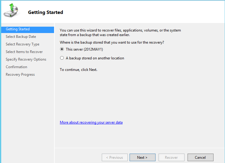 Tự học MCSA 2012: Windows Server Backup: Restore Data, System State News