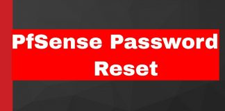 pfsense password reset
